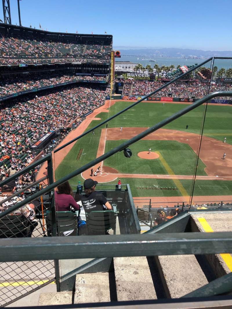 Seating view for Oracle Park Section VR311 Row 1 Seat 2