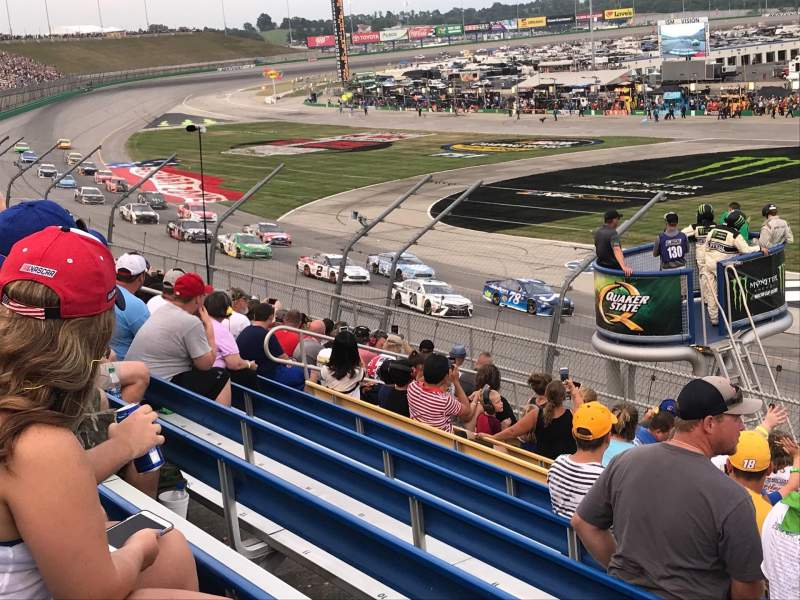 Seating view for Kentucky Speedway Section Grandstand 3M Row 11 Seat 1