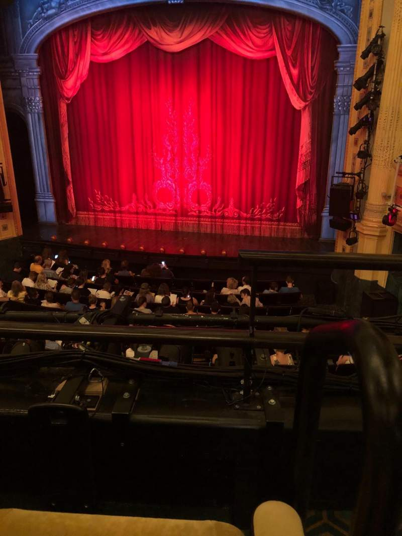 Hudson Theatre, section: Dress Circle, row: B, seat: 115