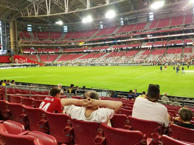 Seating view for State Farm Stadium Section 125 Row 10 Seat 18