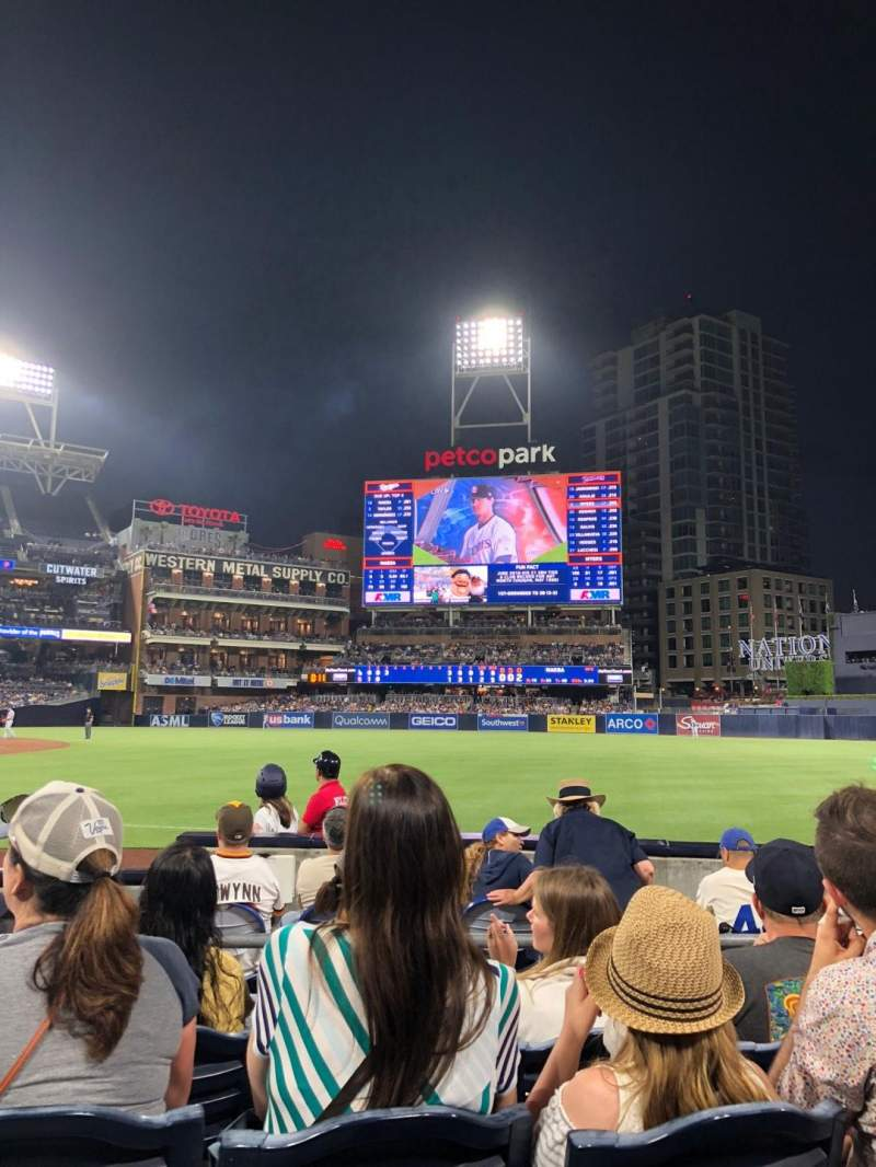 PETCO Park, section: 117, row: 7, seat: 3