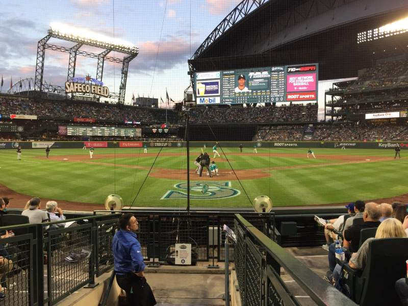 Seating view for T-Mobile Park Section 129 Row 9 Seat 8