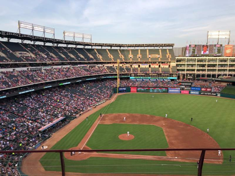 Globe Life Park in Arlington, section: 332, row: 3, seat: 11 and 12