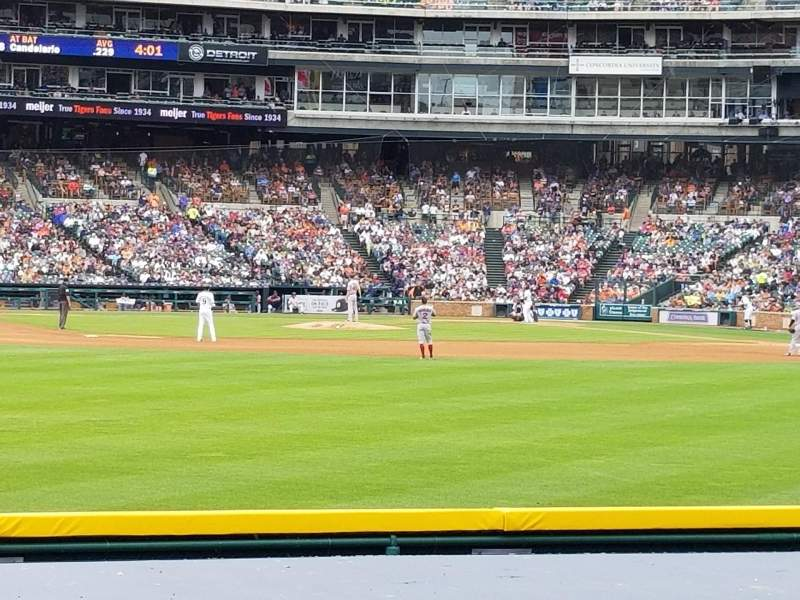 Seating view for Comerica Park Section 150 Row D Seat 9