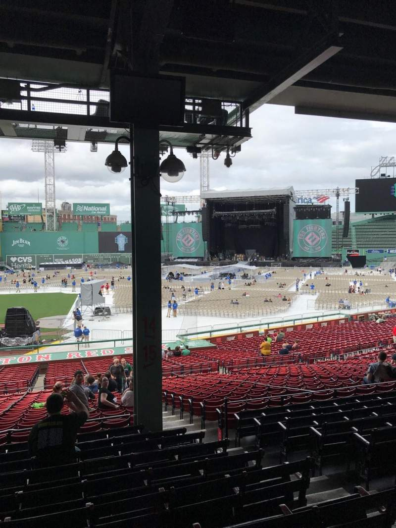 Fenway Park, section: Grandstand 15, row: 10, seat: 4