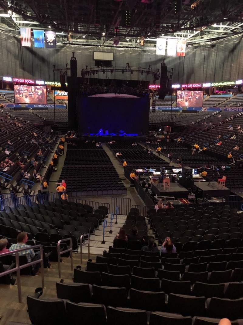 Chesapeake Energy Arena, section: 101, row: U, seat: 19