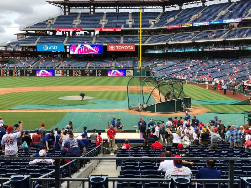 Seating view for Citizens Bank Park Section 128 Row 23 Seat 5