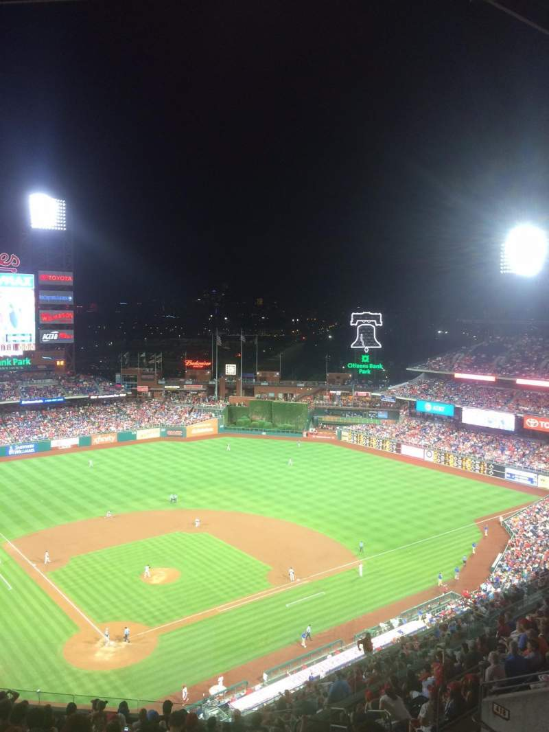 Seating view for Citizens Bank Park Section 419 Row 16 Seat 8