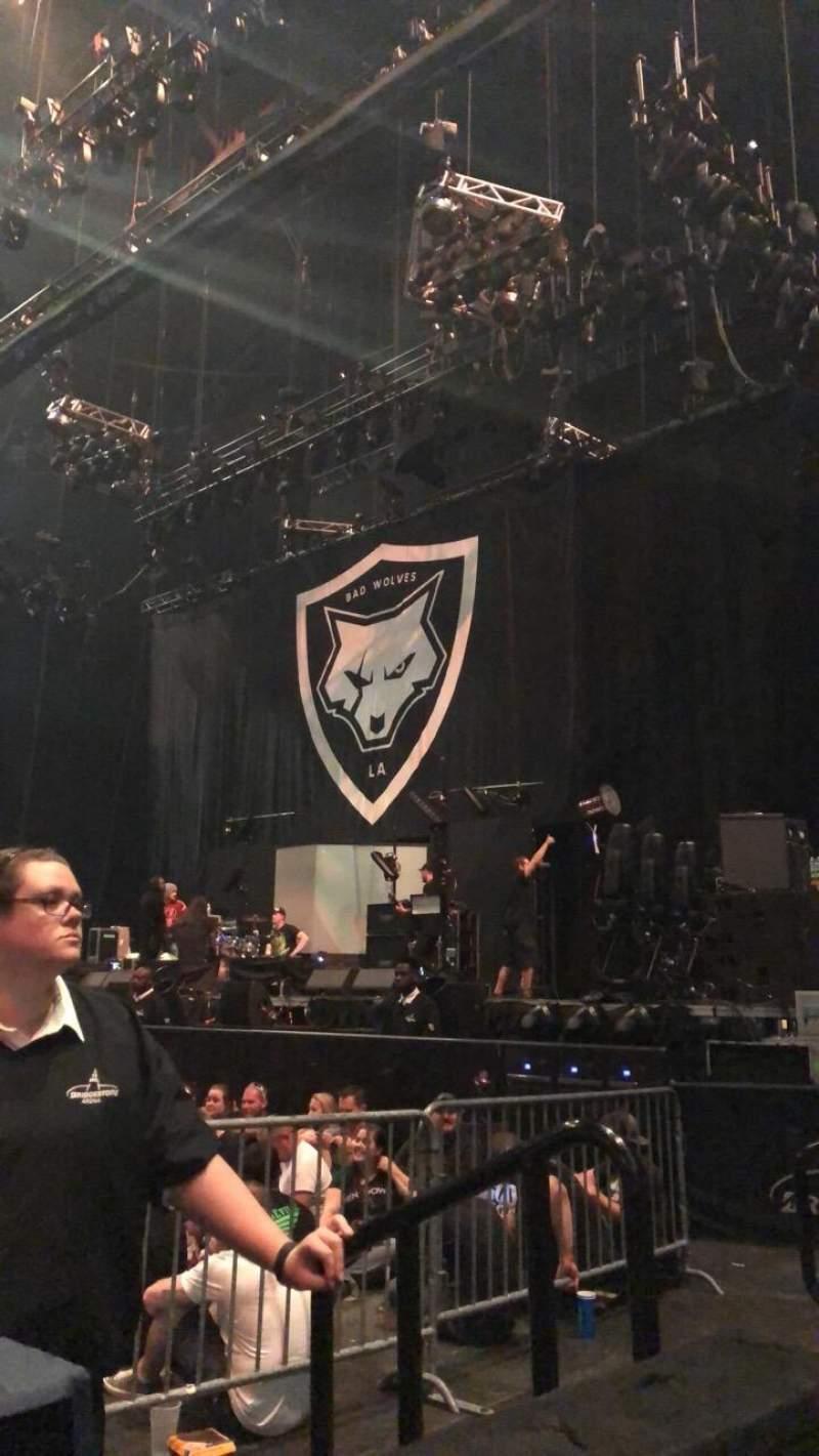 Seating view for Bridgestone Arena Section 107 Row AA Seat 1