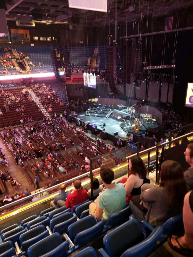 Seating view for Mohegan Sun Arena Section 109 Row G Seat 5