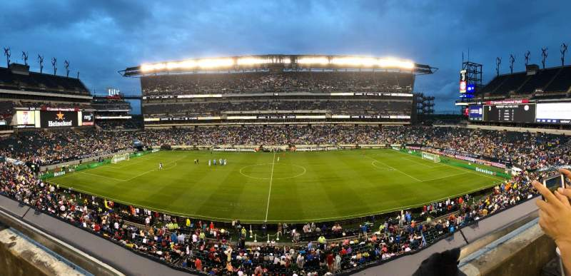 Seating view for Lincoln Financial Field Section C22 Row 1 Seat 18
