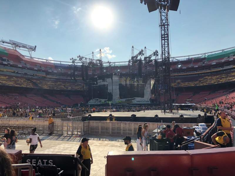 FedEx Field, section: 127, row: 4, seat: 20