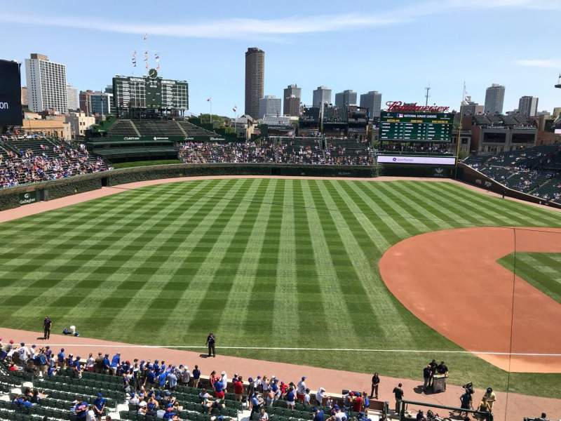 Seating view for Wrigley Field Section 308L Row 1 Seat 2