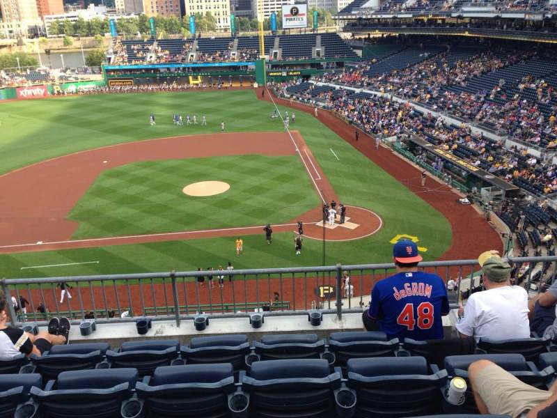 Seating view for PNC Park Section 221 Row E Seat 8