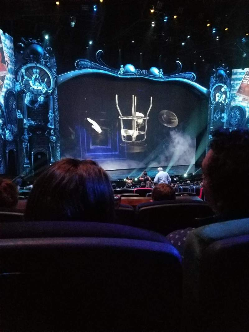 Seating view for Michael Jackson One Theatre Section 201 Row DD Seat 13