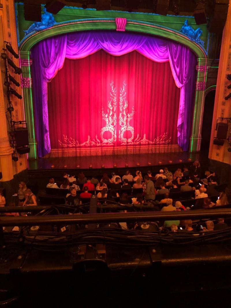 Hudson Theatre, section: Dress Circle, row: B, seat: 102