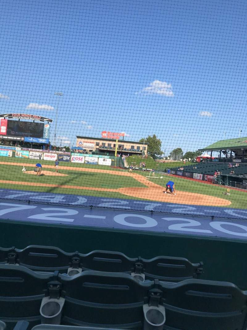 Four Winds Field, section: 113, row: F, seat: 1