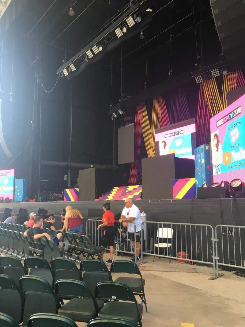 Seating view for Ameris Bank Amphitheatre Section ORCH 1 Row F Seat 1
