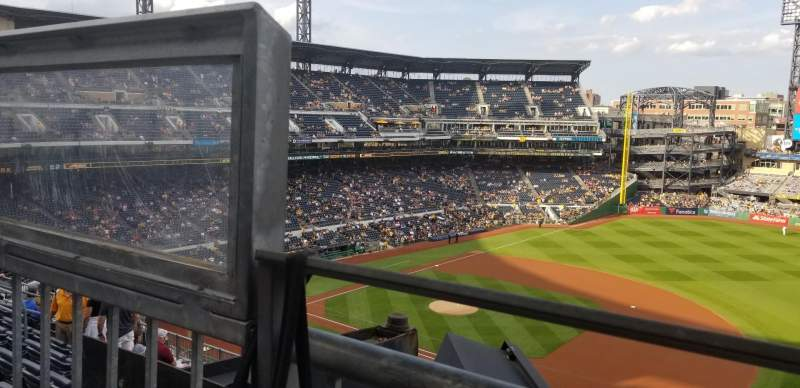 Seating view for PNC Park Section 307 Row A Seat 27