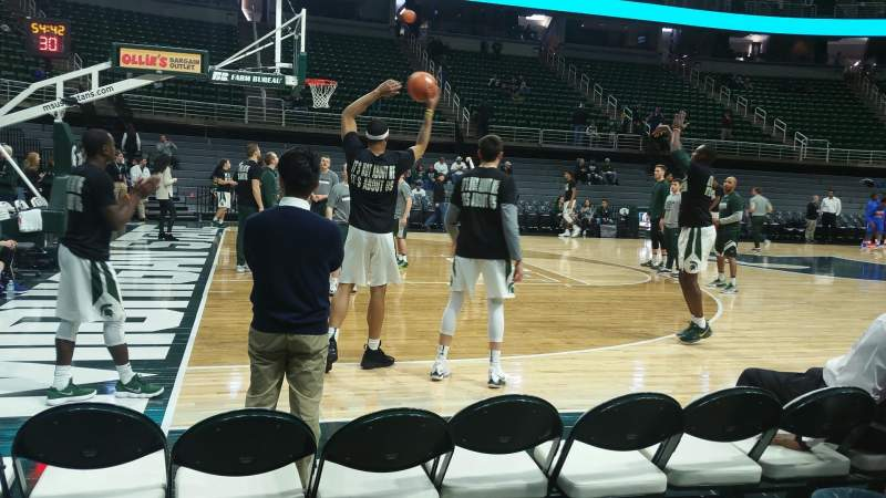 Seating view for Breslin Center Section 113 Row 2 Seat 103