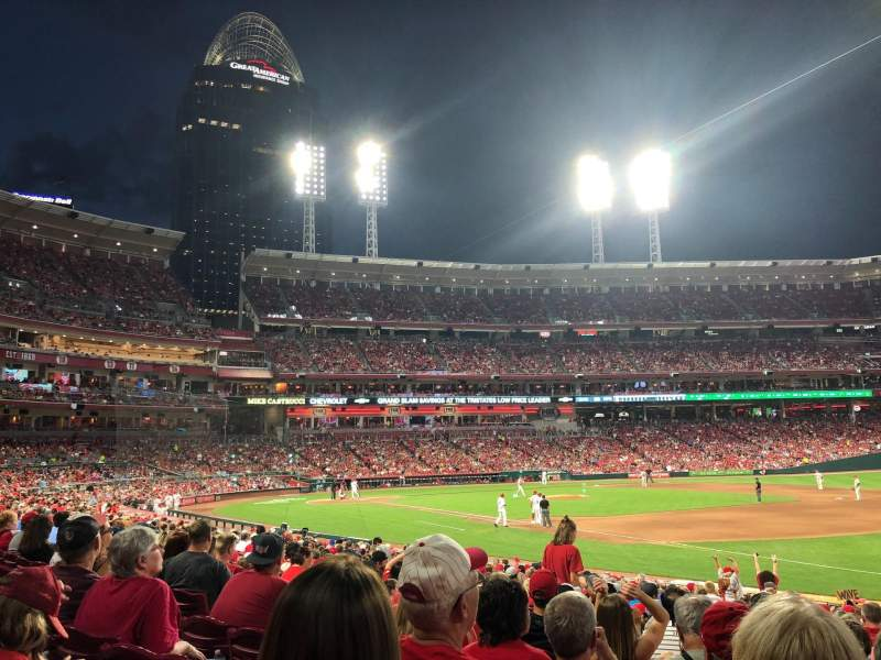 Great American Ball Park, section: 134, row: W, seat: 9