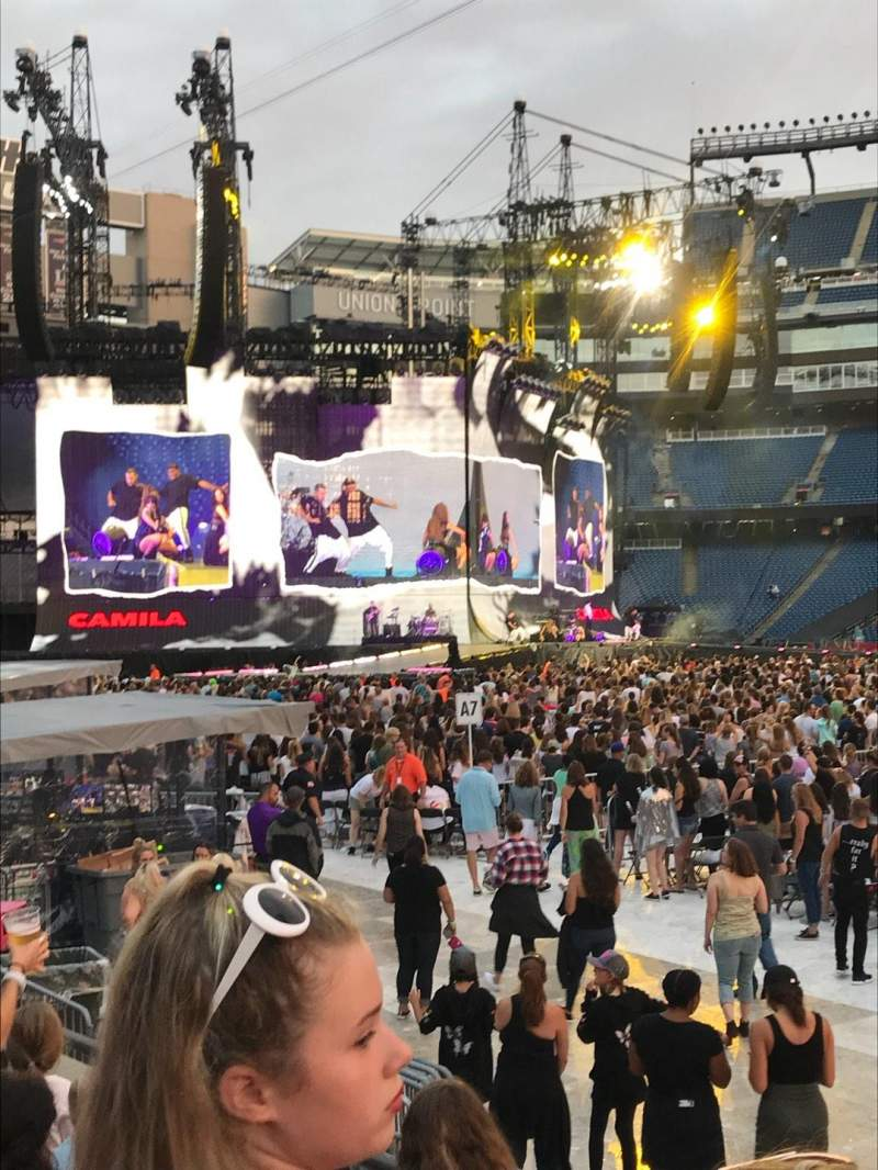 Seating view for Gillette Stadium Section 107 Row 4 Seat 16