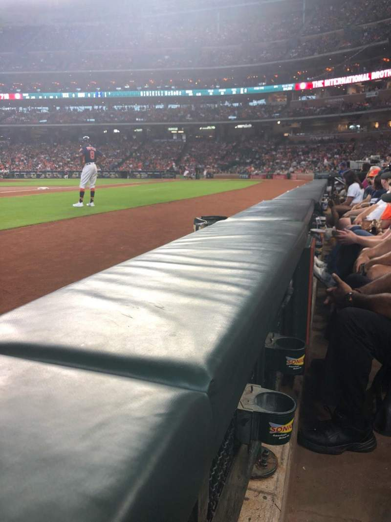 Minute Maid Park, section: 110, row: 1, seat: 17