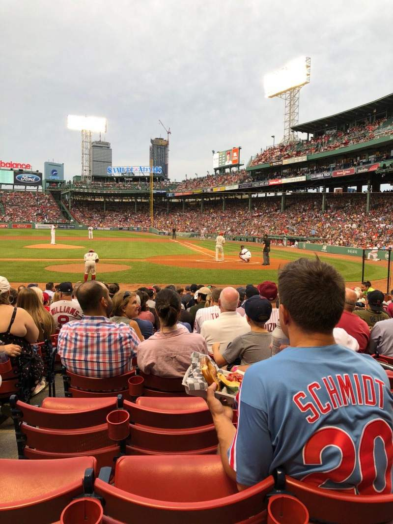 Fenway Park, section: Field Box 54, row: M, seat: 3