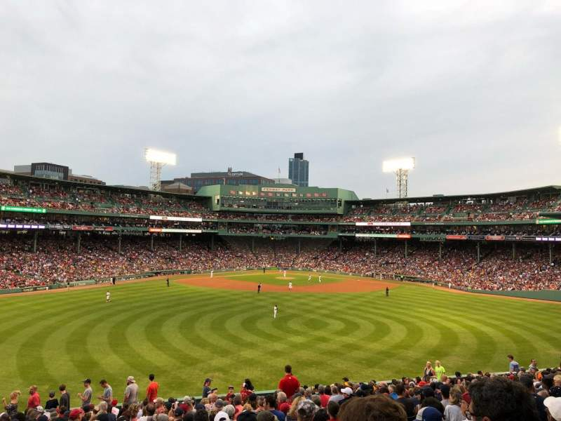 Seating view for Fenway Park Section Bleacher 36 Row 22 Seat 4