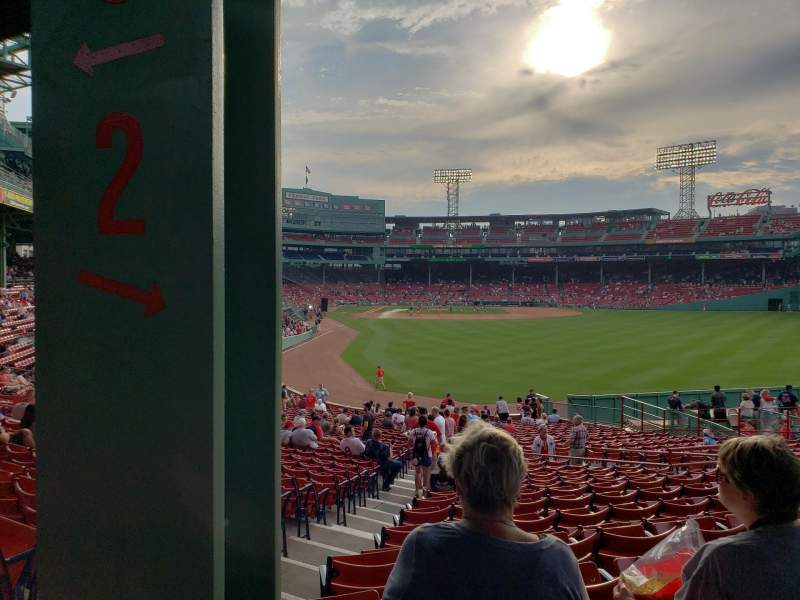 Fenway Park, section: Grandstand 2, row: 2, seat: 18, 19