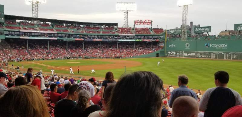 Fenway Park, section: Grandstand 9, row: 1, seat: 1