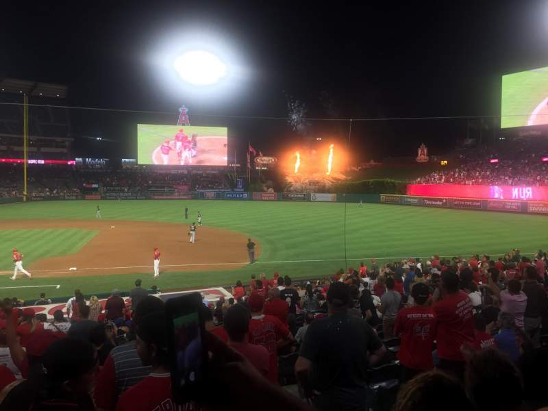 Seating view for Angel Stadium Section F125 Row Y Seat 12