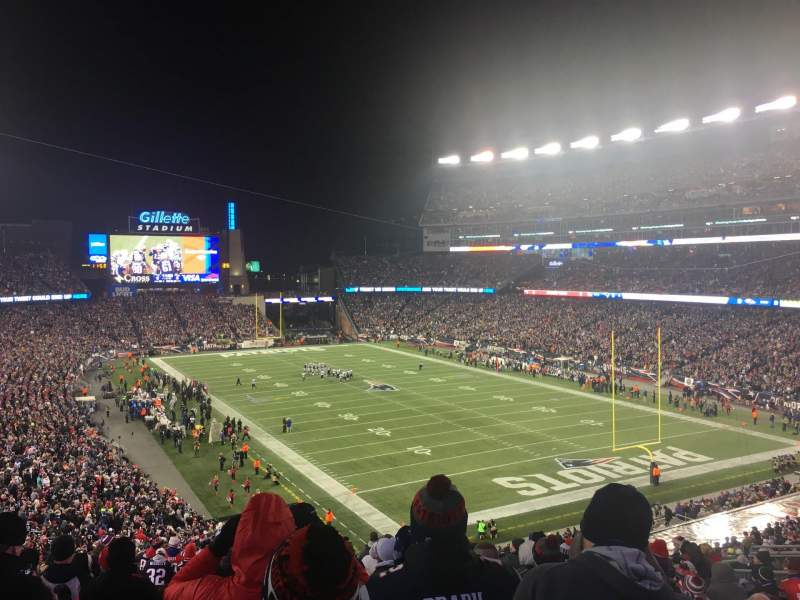 Seating view for Gillette Stadium Section 223 Row 17