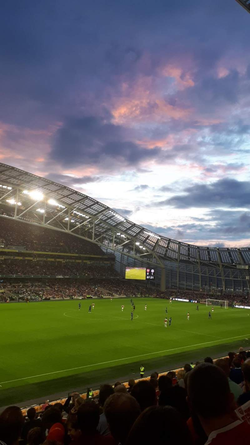 Seating view for Aviva Stadium Section 309 Row J Seat 26