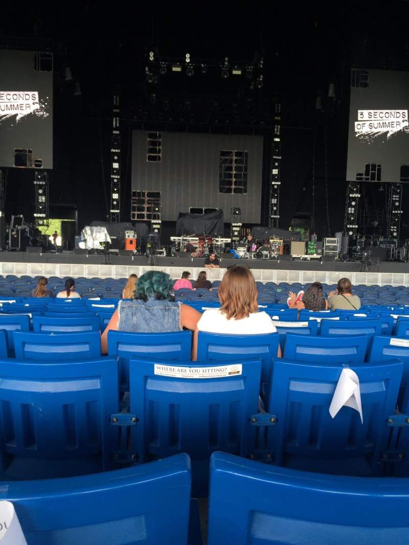 Seating view for PNC Music Pavilion Section 2 Row S Seat 22