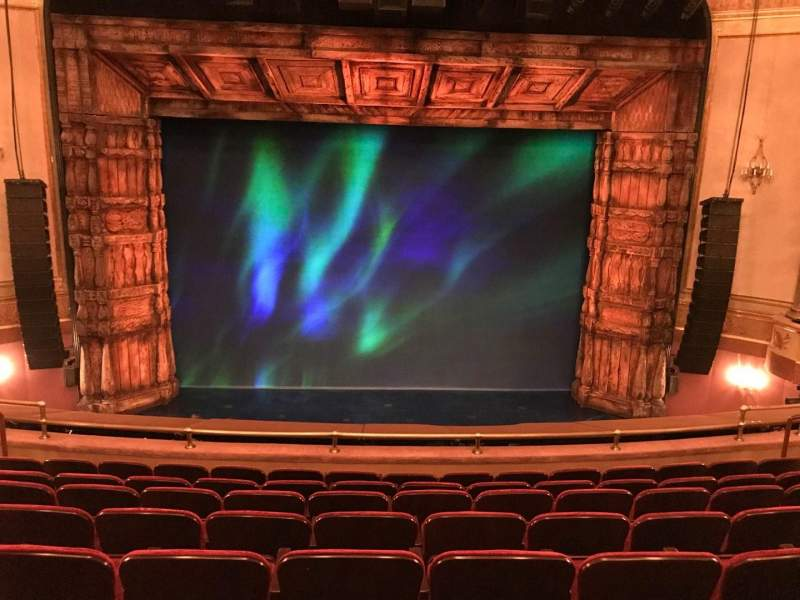 Seating view for St. James Theatre Section Mezzanine C Row H Seat 109