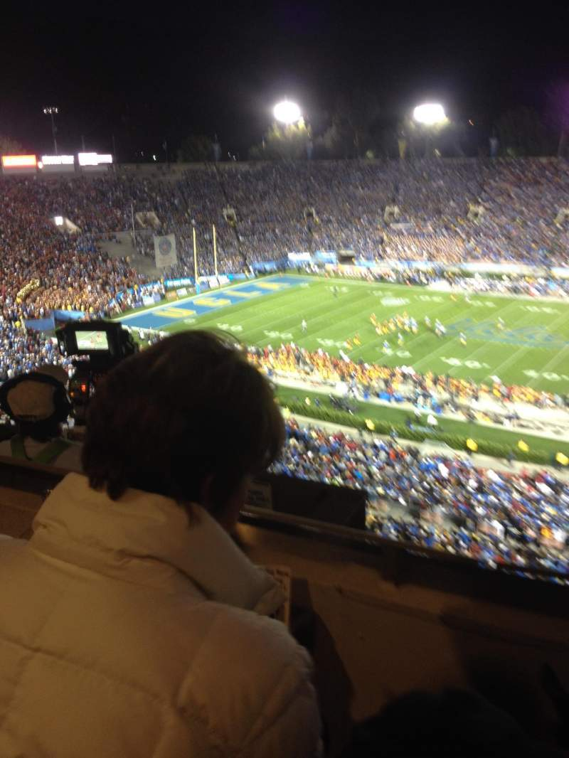 Seating view for Rose Bowl Section Club E207 Row B Seat 1and2