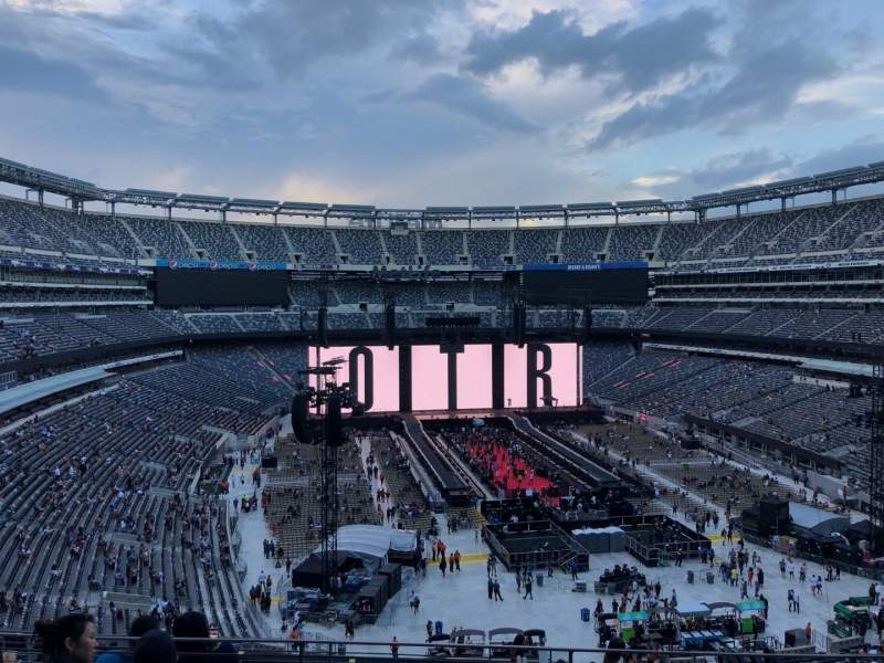 Seating view for MetLife Stadium Section 228B Row 5 Seat 15