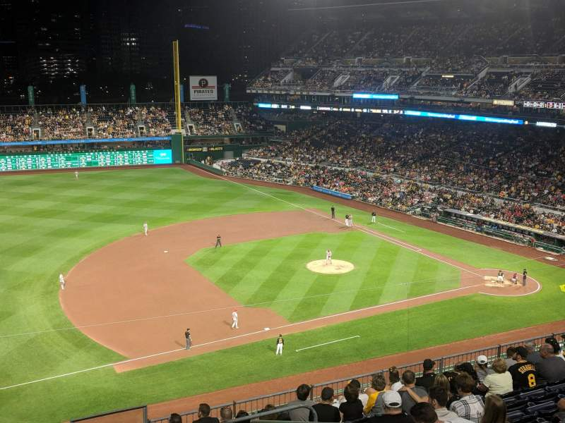 Seating view for PNC Park Section 325 Row D Seat 16