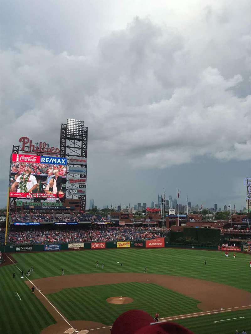 Seating view for Citizens Bank Park Section 219 Row 6 Seat 15