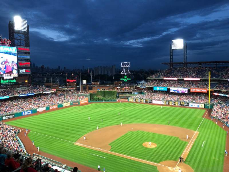 Citizens Bank Park, section: 423, row: 1, seat: 9