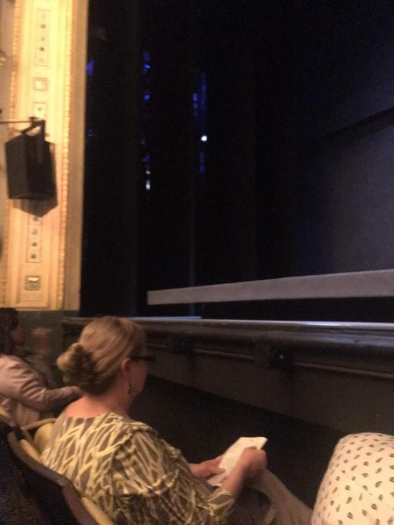 Hudson Theatre, section: Orchestra, row: B, seat: 110