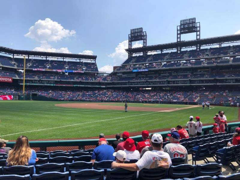 Seating view for Citizens Bank Park Section 137 Row 9 Seat 5