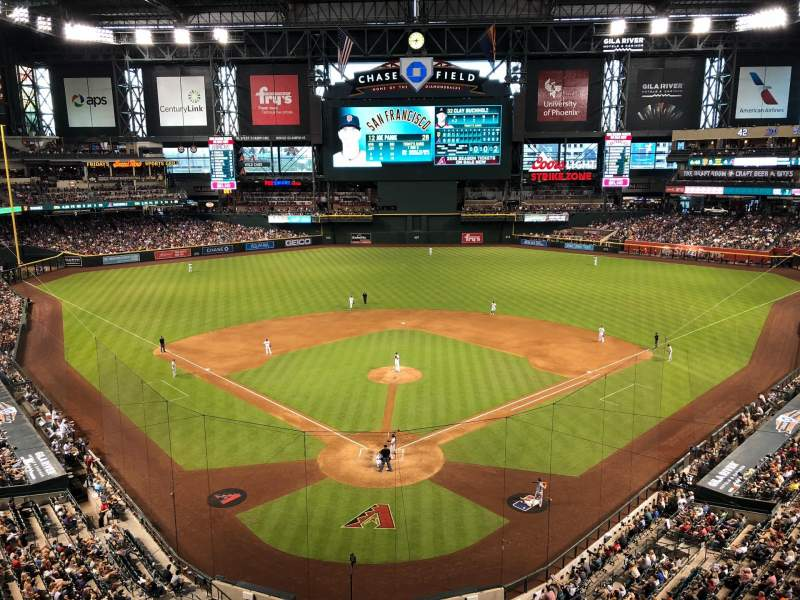 Seating view for Chase Field Section 316 Row 1 Seat 3