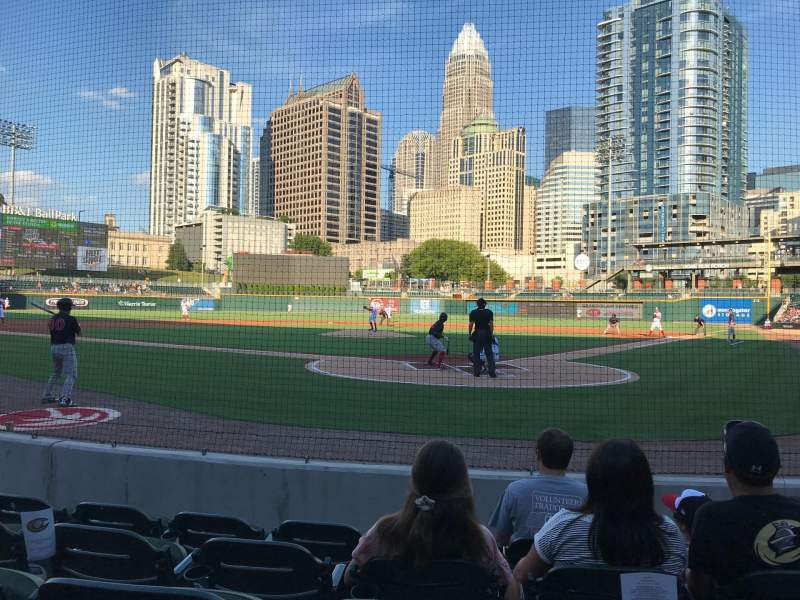 Seating view for BB&T Ballpark (Charlotte) Section 112 Row E Seat 9