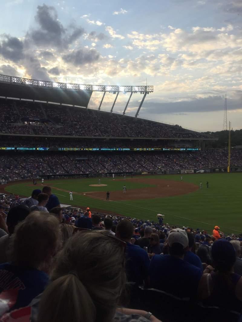Kauffman Stadium, section: 243, row: KK, seat: 11