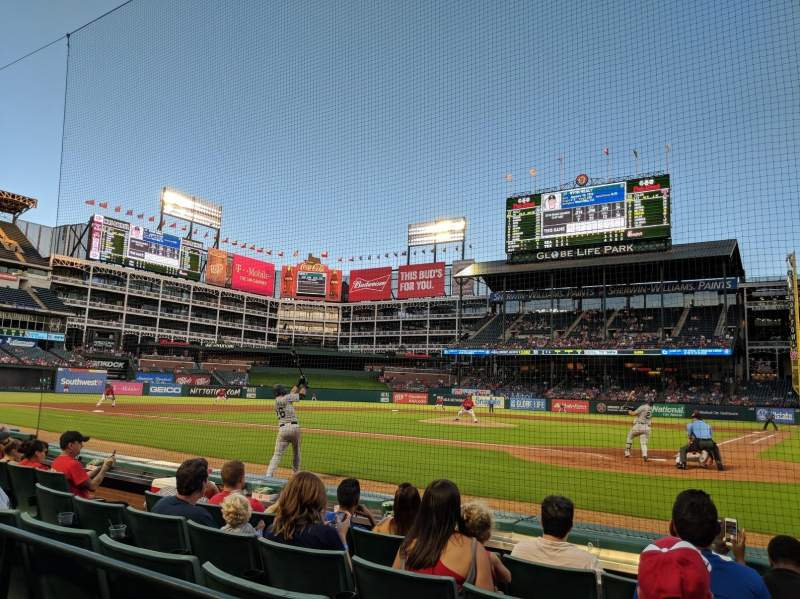Globe Life Park in Arlington, section: 22, row: 2, seat: 11