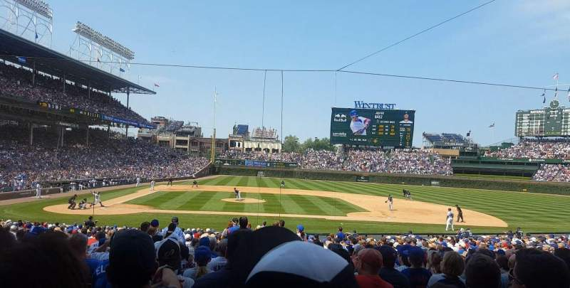 Seating view for Wrigley Field Section 123 Row 14 Seat 6