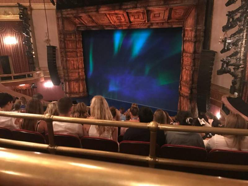 Seating view for St. James Theatre Section Mezzanine R Row J Seat 20