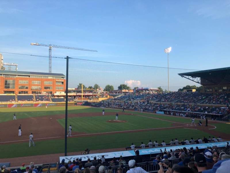 Seating view for Durham Bulls Athletic Park Section 209 Row T Seat 16